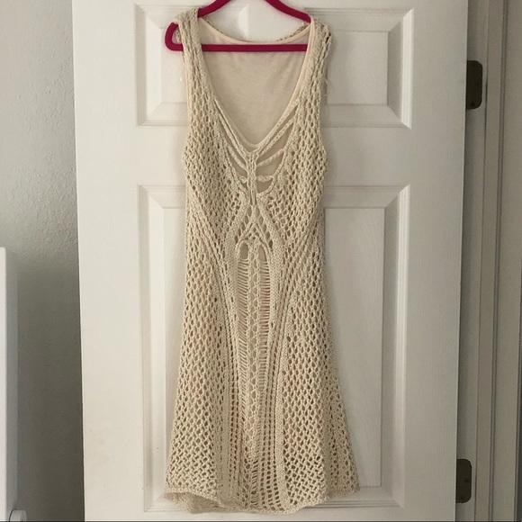 stradivarius Dresses & Skirts - Cute crochet short dress